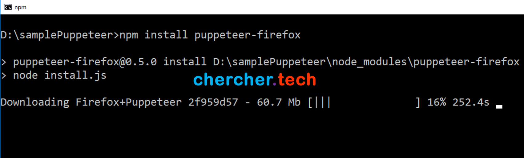 Puppeteer with Firefox