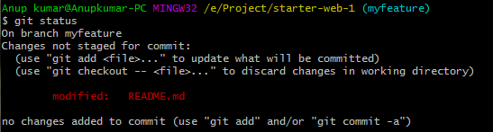 RBC-git-status-secondtime-modified-readme-file