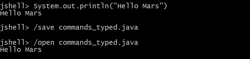 REPL - JShell in Java