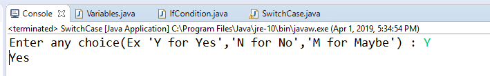 output-of-switch-case-java