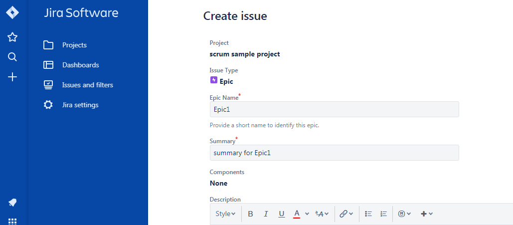 Epic1-create-issue