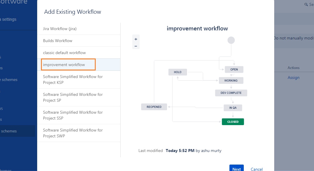 select-improvement-workflow