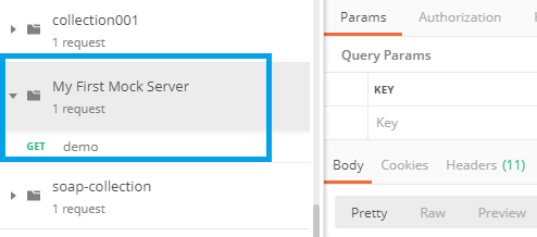 postman-mock-server-default-request