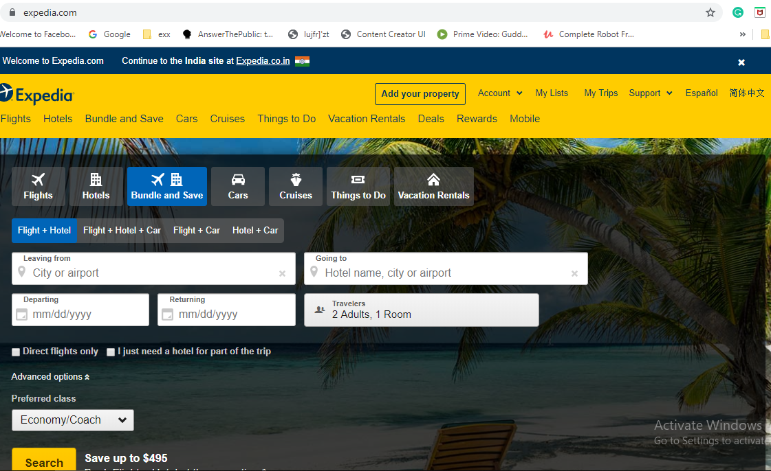 expedia-home-page