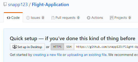 successfully-created-my-new-repository-Flight-application