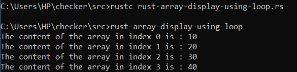 rust-array-using-for-loop