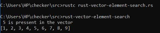 rust-vector-element-search