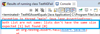 Assertions in TestNG with Selenium
