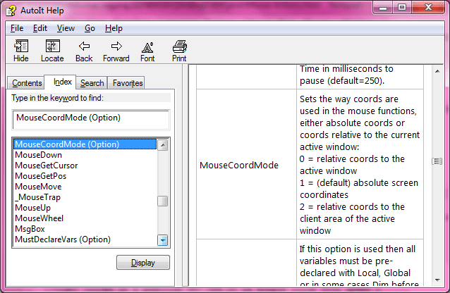 Mouse coordinate mode in AutoIt