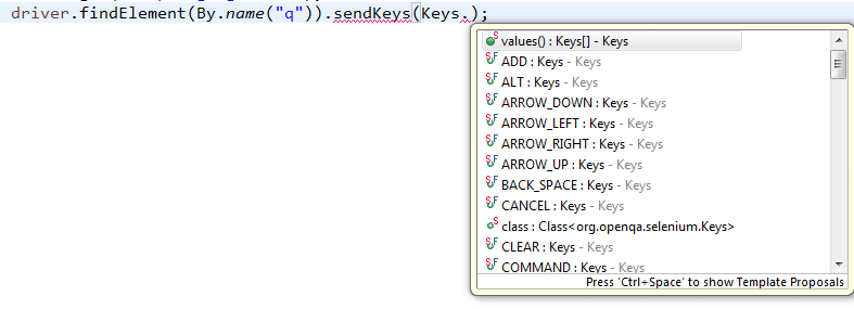 Sendkeys : Click : Clear : Submit ~ Element Input Operations