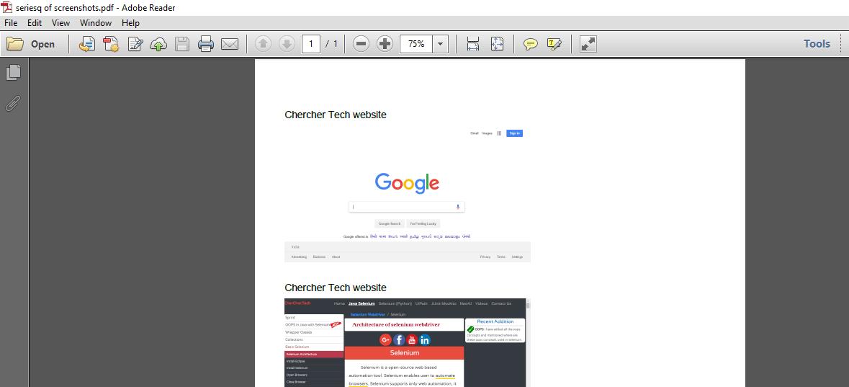 Take Screenshot in selenium | Element Screenshot | Store PDF | Highlight