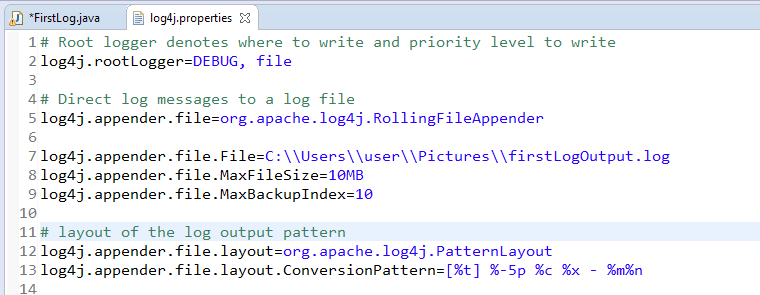 properties-file-log4j-java-selenium