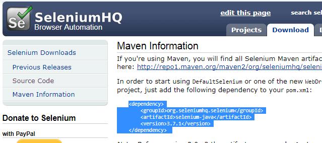 Maven with Selenium