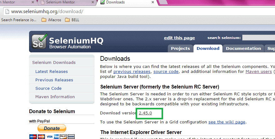 Install Selenium jars with Eclipse