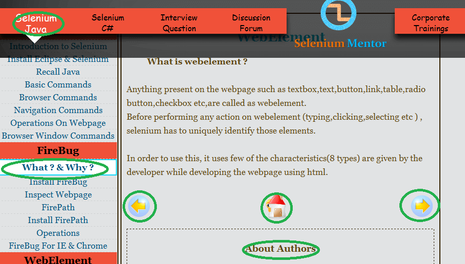 Locators in Selenium