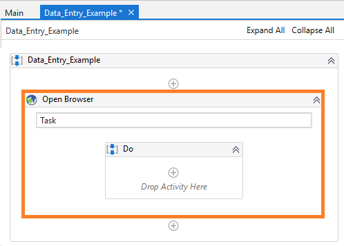 adding-open-brwoser-activity-rpa-uipath