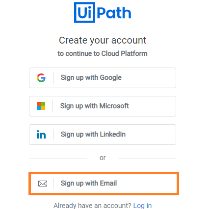 choosing-signup-throgh-email-rpa-uipath