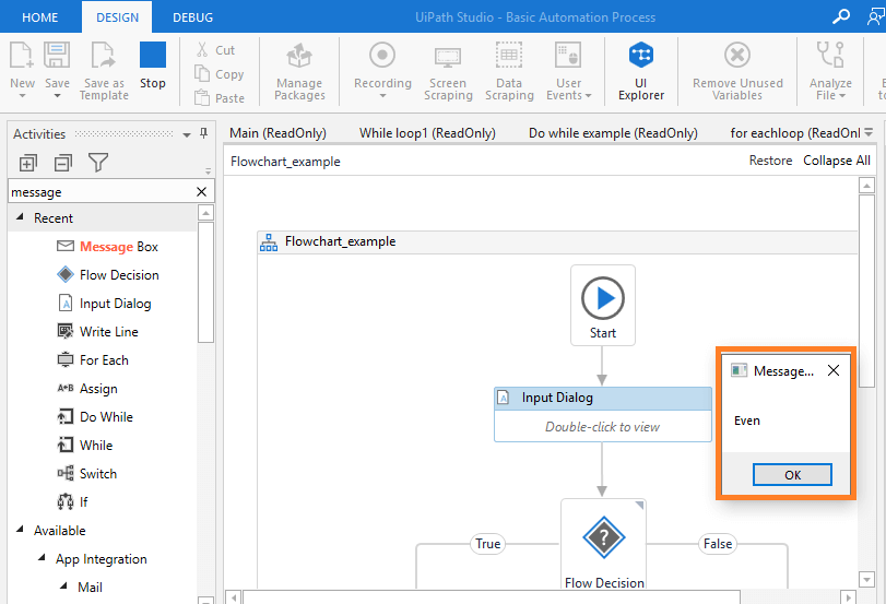 output-message-rpa-uipath