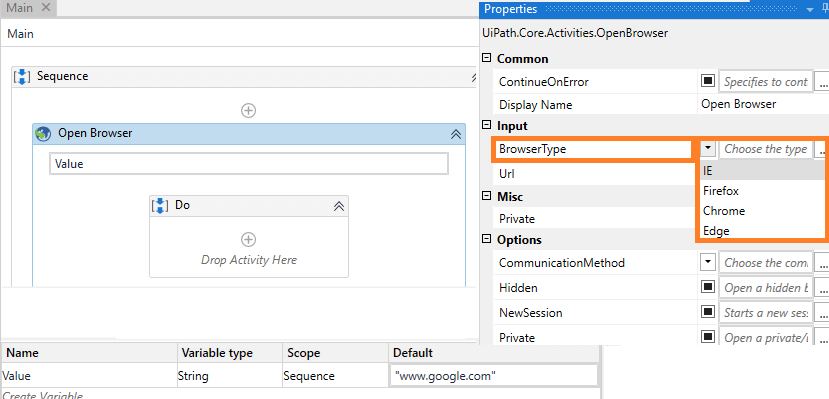 select-browser-type-rpa-uipath